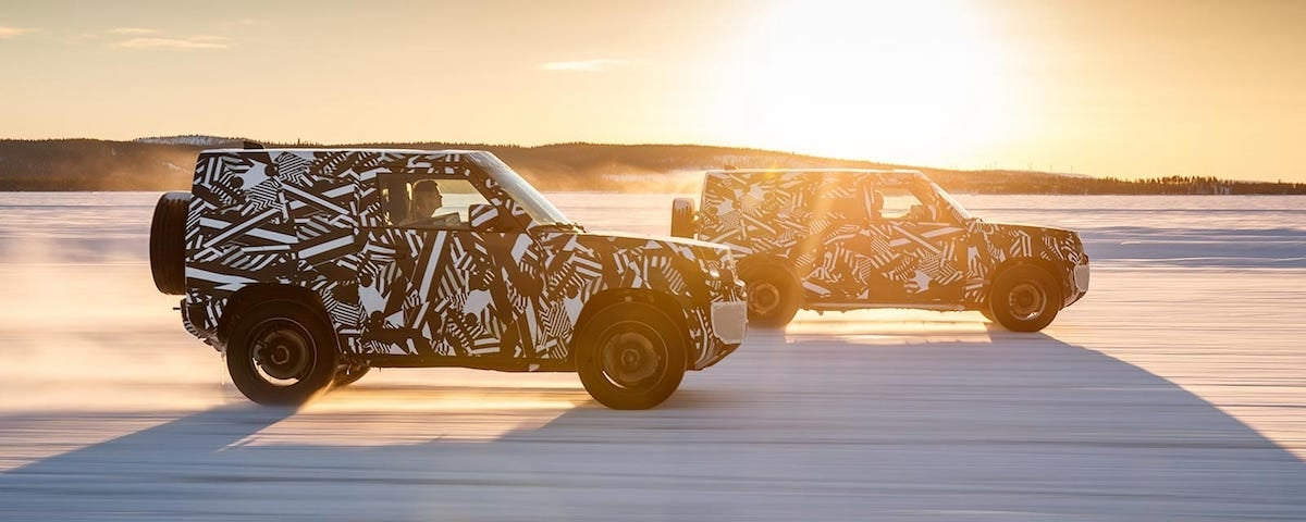 Two 2020 Land Rover Defender test vehicles