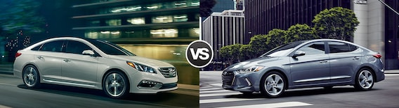 Elantra Vs Sonata >> Compare 2017 Hyundai Sonata Vs Hyundai Elantra
