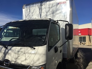 2016 HINO 195 with a 16 foot body and power gate -