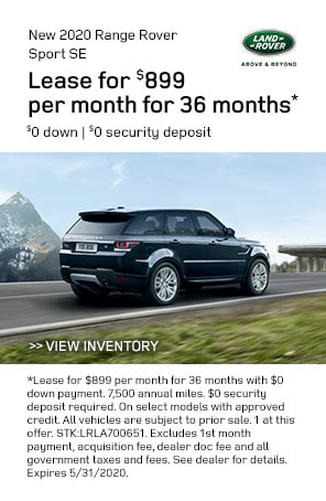 New 2020 Range Rover Sport specials at Land Rover Livermore