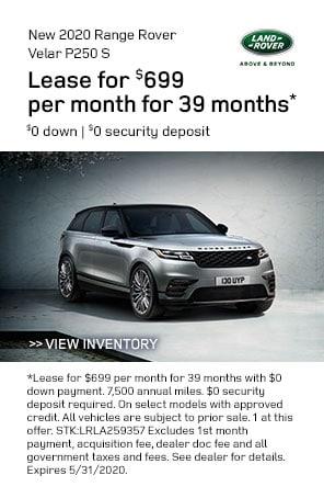 New 2020 Range Rover Velar specials at Land Rover Livermore