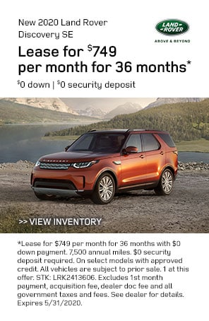 New 2020 Land Rover Discovery specials at Livermore Land Rover