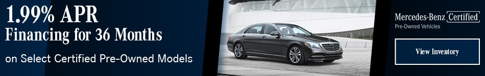 1.99% APR Financing for 36 months on Select Certified Pre-Owned Models