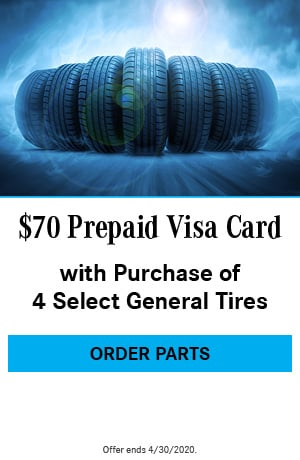 Prepaid Visa Card with Purchase of 4 Select General Tires