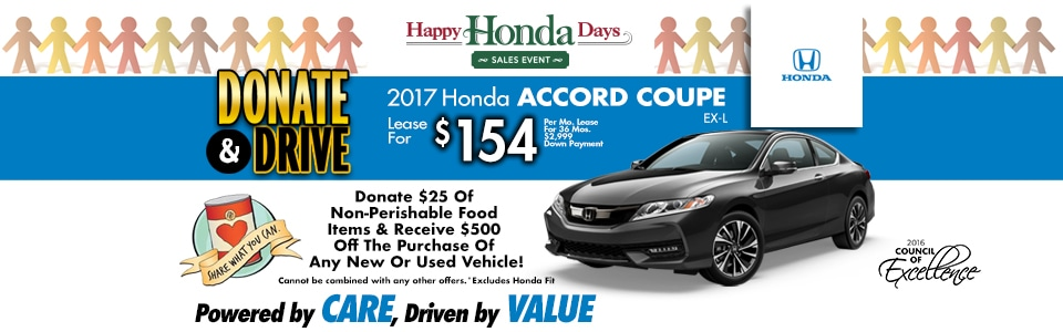 2017 Honda Accord Coupe EX-L Lease Special at Cambridge Honda