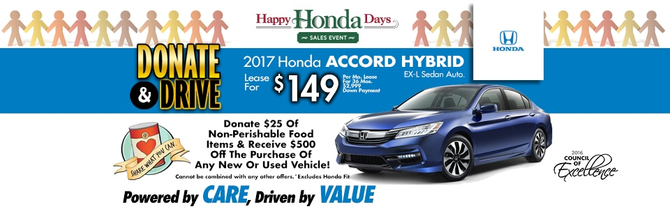 2017 Honda Accord Hybrid EX-L Sedan Auto. Lease Special at Cambridge Honda