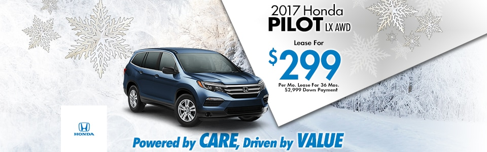 2017 Honda Pilot LX AWD Lease Special at Cambridge Honda