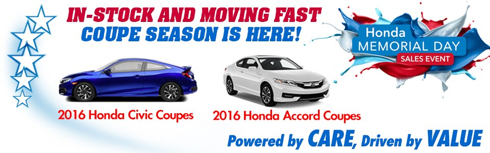 2016 Honda Civic & Accord Coupe Special at Cambridge Honda