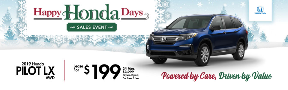 2019 Honda Pilot Lease Special at Cambridge Honda