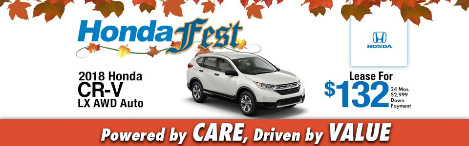 2018 Honda CR-V LX AWD Lease Special at Cambridge Honda