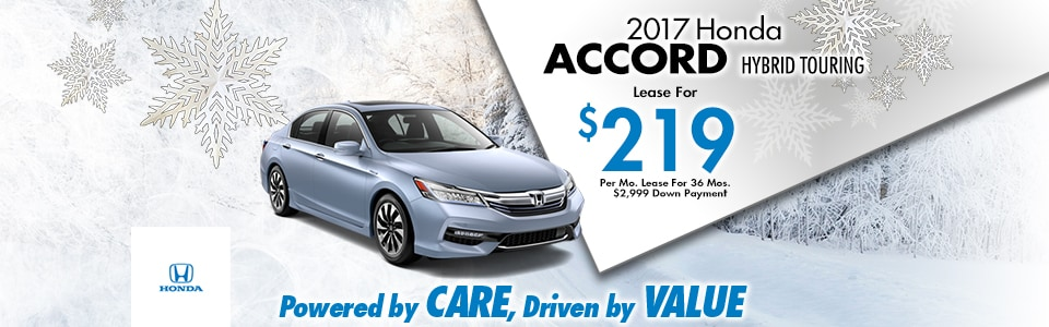 2017 Honda Accord Hybrid Touring Lease Special at Cambridge Honda