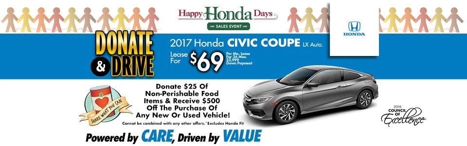2017 Honda Civic Coupe LX Auto. Lease Special at Cambridge Honda