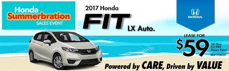 2017 Honda Fit LX Auto. Lease Special at Cambridge Honda