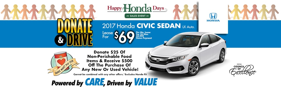 2017 Honda Civic Sedan LX Auto. Lease Special at Cambridge Honda