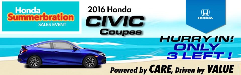 2016 Honda Civic Coupe Special at Cambridge Honda