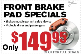 Front Brake Pad Specials