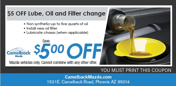 Camelback Mazda Oil Change Coupons U0026 Specials Phoenix AZ