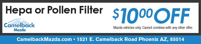 Cabin Air Filter Coupon, Phoenix