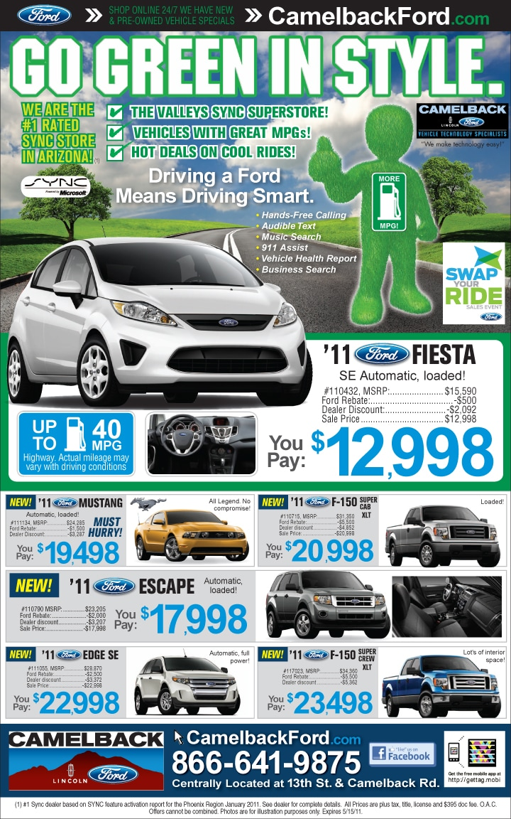 Camelback Ford Newspaper Ad Specials Camelback Ford
