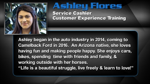 Ashley Flores - Service Cashier