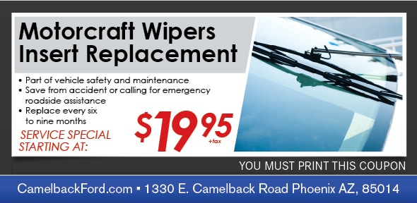 Windshield Wipers Service Coupon, Phoenix Automotive Service Special