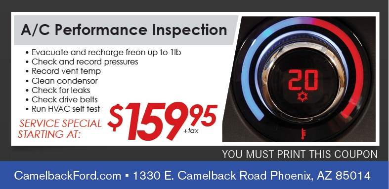 Automotive Ac Service Coupon Phoenix Camelback Ford