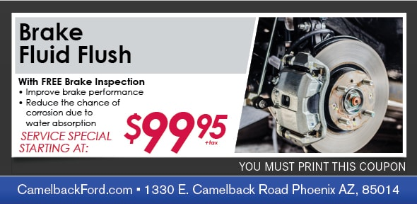 Brake Fluid Flush Service Coupon, Phoenix Automotive Service Special
