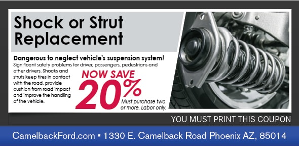 Shock or Strut Service Coupon, Phoenix Automotive Service Special