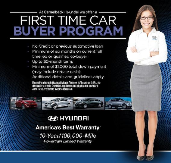 First Time Car Buyer Loan >> First Time Car Buyer Program Hyundai Sales Financing Phoenix Az