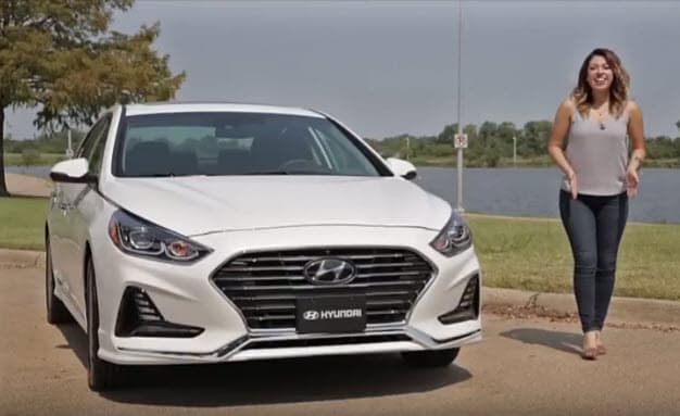 woman in 2018 Hyundai Sonata