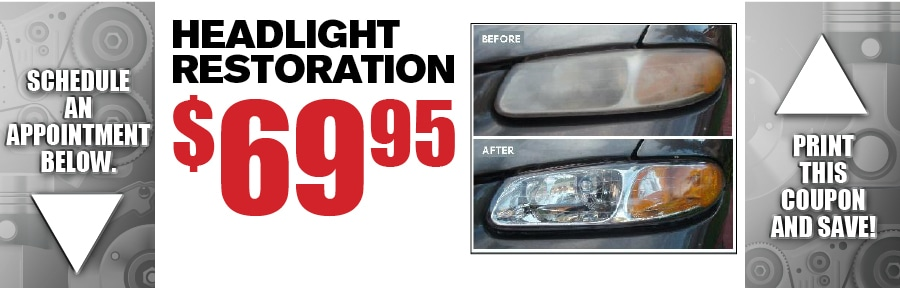 Headlight Restoration Service Center Special Camelback