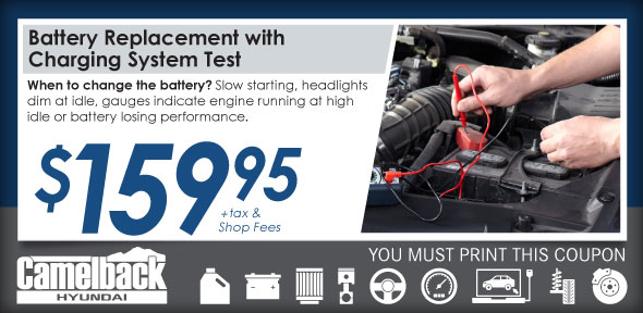 Battery Service Service Coupon, Phoenix Automotive Service Special