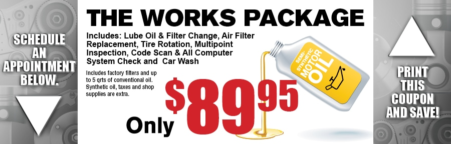 Oil Lube Tire Rotation Filter Replacement Car Inspection