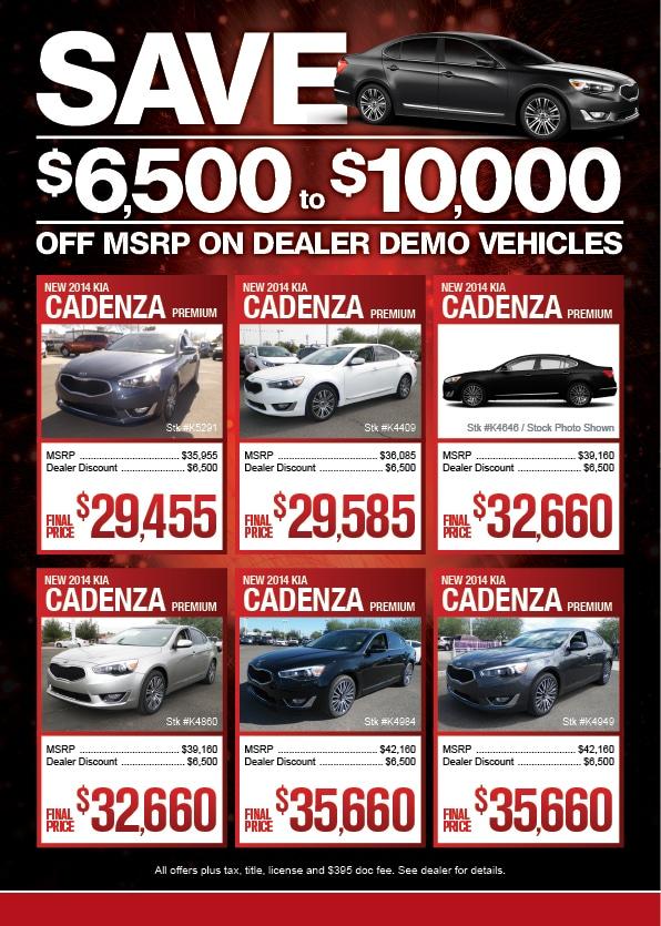 Save Now On Kia Dealer Demo Vehicles In Phoenix