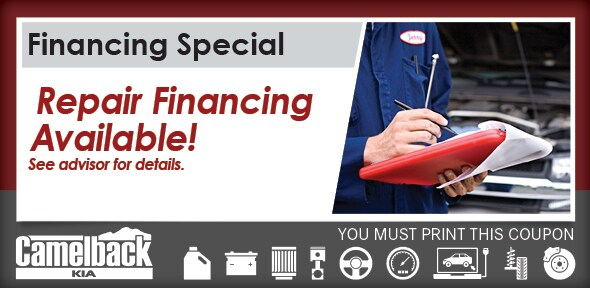 Auto Repair Finance Phoenix Camelback Kia Service Center
