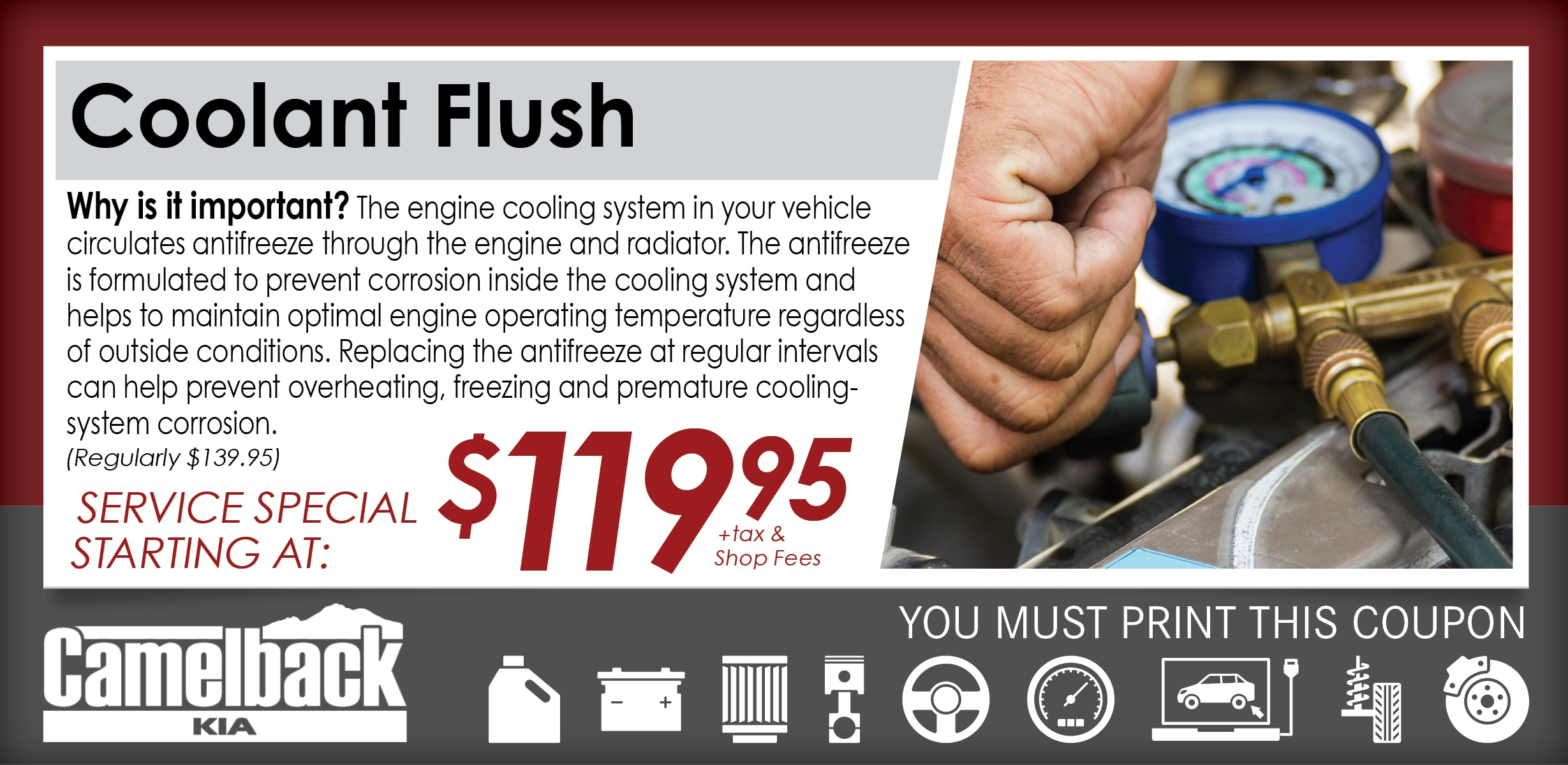 Coolant Flush, Phoenix, AZ Automotive Service Special Special