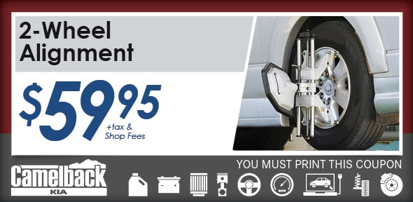 Wheel Alignment, Phoenix, AZ Automotive Service Special Special