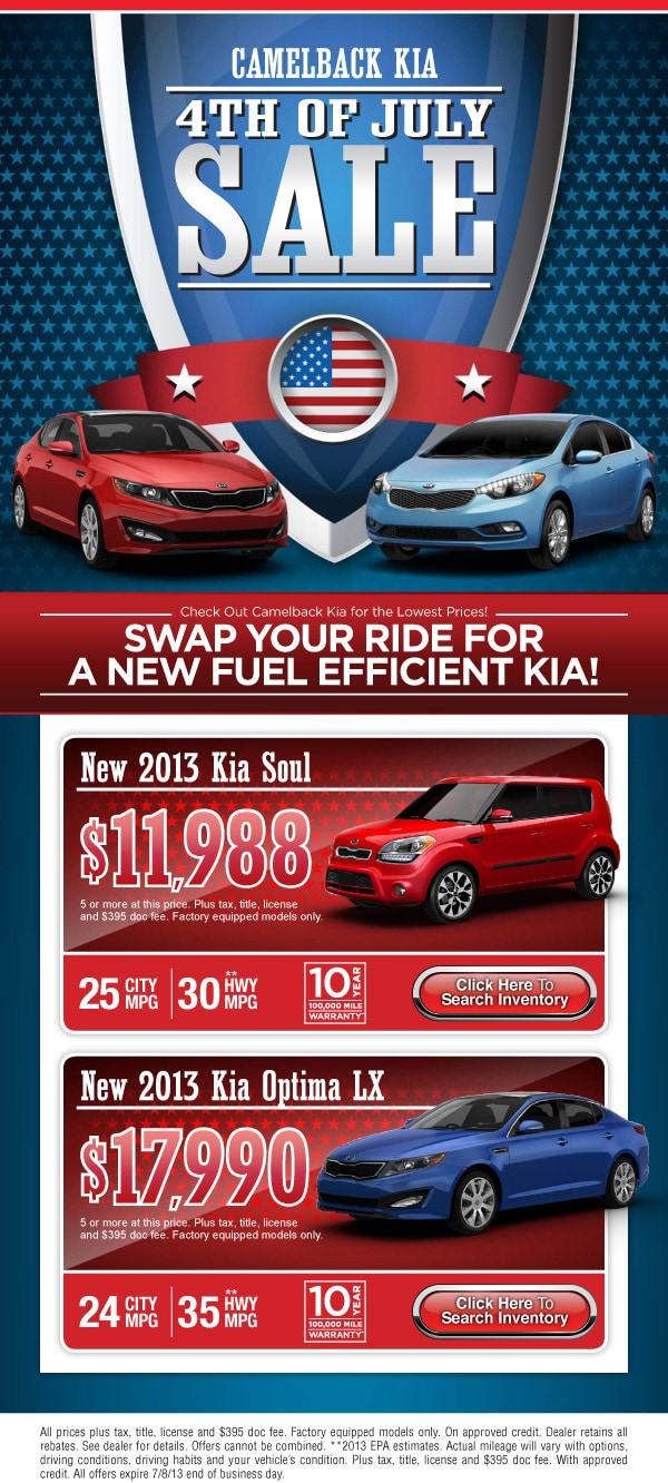 Kia Sale Event Phoenix Az July 4th Weekend New Kia Soul