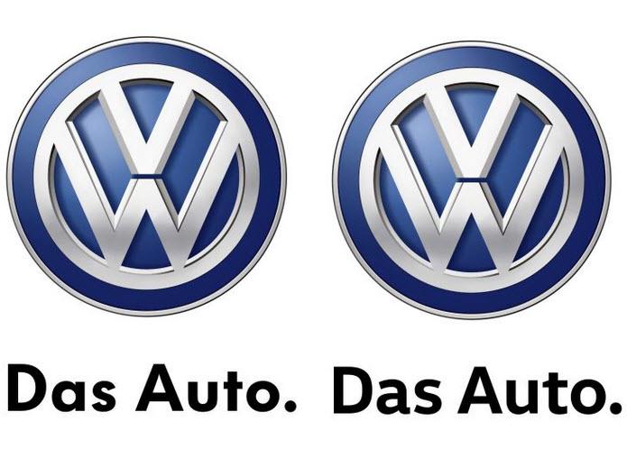 volkswagen 39 s das auto logo gets a new font. Black Bedroom Furniture Sets. Home Design Ideas