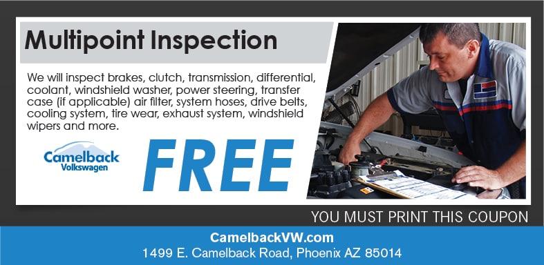 Automotive Multi Piont Inspection Coupon Phoenix Az Vw Service Specials