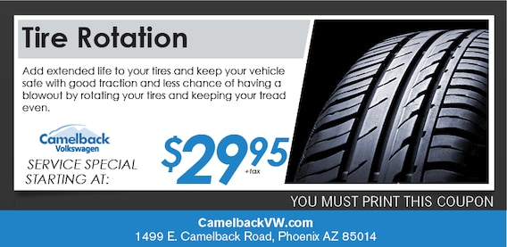 Tire Rotation Coupon >> Tire Rotation Service Coupon Phoenix Az Volkswagen Service Center