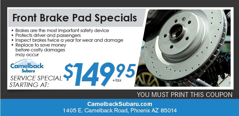 Subaru Brake Pad Specials Amp Coupons Phoenix Az Subaru