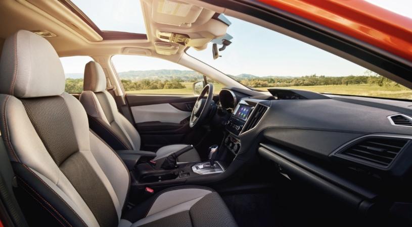 Redesigned Subaru Crosstrek cockpit and dashboard