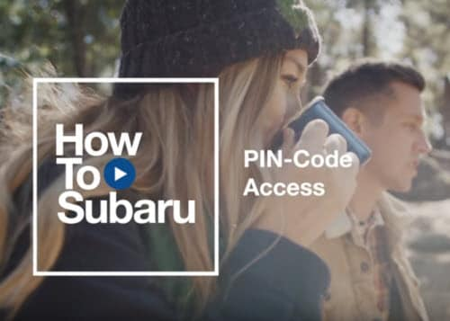 Subaru PIN-Code Access How To