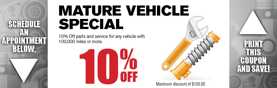 Mature Vehicle Service Special Camelback Volkswagen