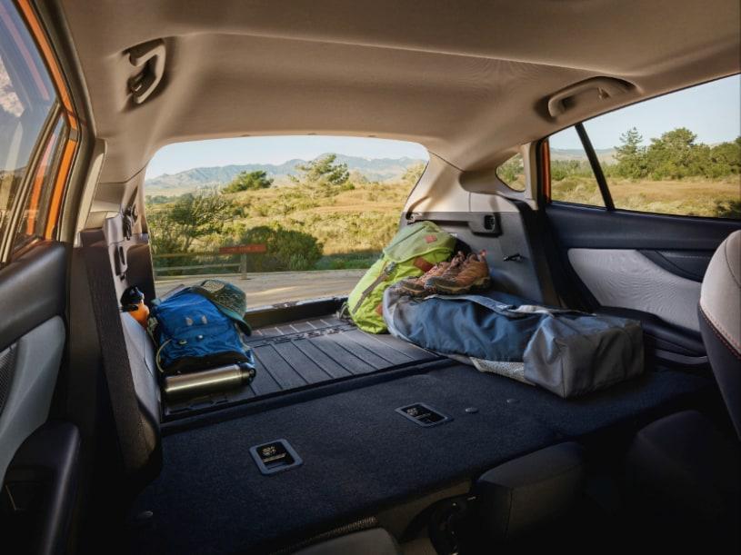 Subaru Crosstrek cargo area with seats down