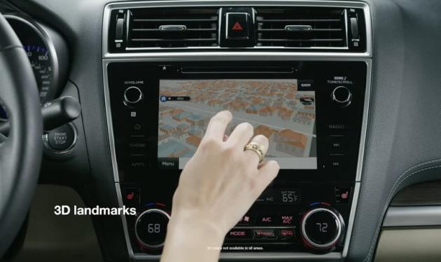 Subaru TomTom Navigation System with 3D landmarks