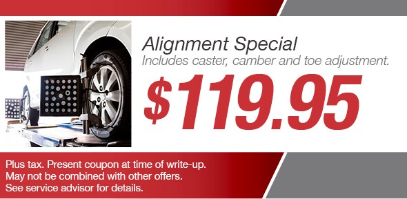 Alignment Service Special Toyota Service Coupon