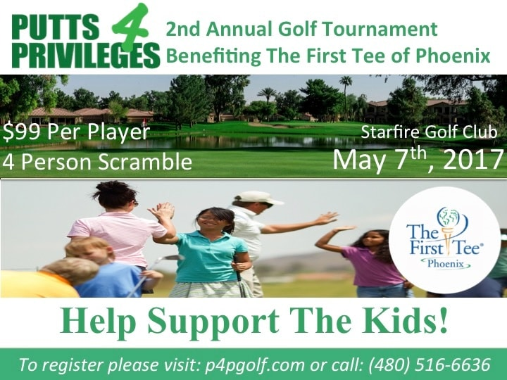 Putts 4 Privileges Scottsdale golf tournament