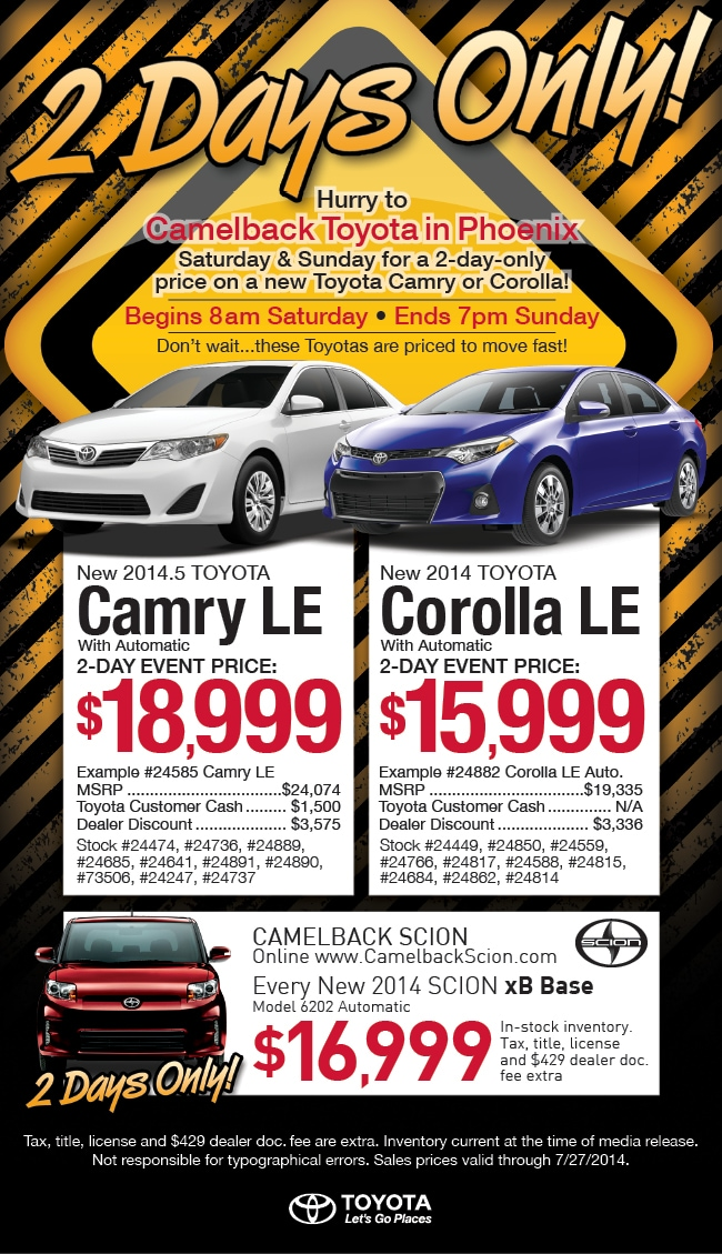 New Toyota Cars for Sale in Phoenix | Camelback Toyota